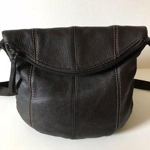 The Sak Deena Crossbody Fold Over Leather Purse